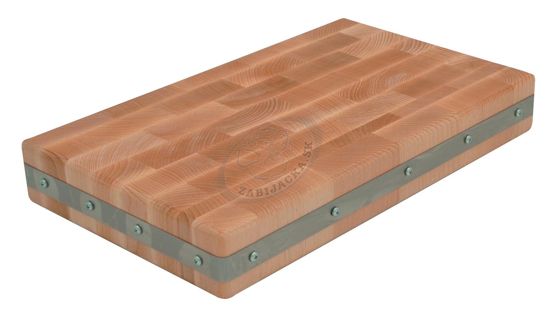 Mäsodoska drevená s nerez. obručou