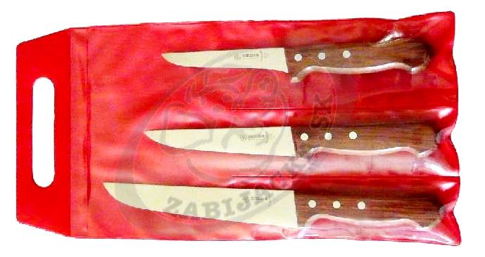 Sada mäsiarskych nožov drevo 3550